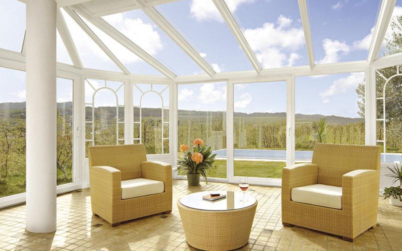 veranda grandi vetrate giardino d'inverno