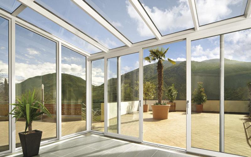giardino d'inverno veranda grandi vetrate